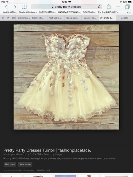 dress gold rose gold bling