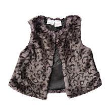Kardashian kids girls leopard print faux fur vest