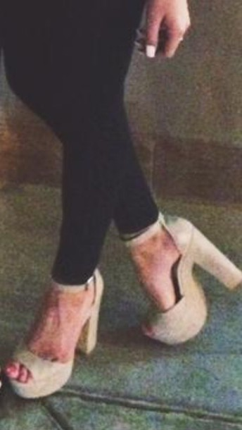 shoes nude platform sandals