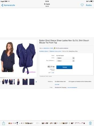 blouse blue button up blouse