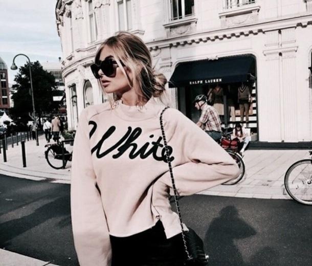 blouse white pink black white blouse fashion