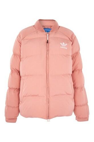 jacket puffer jacket adidas originals pink