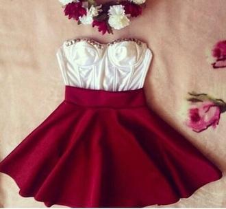 dress cute dress red dress bustier dress