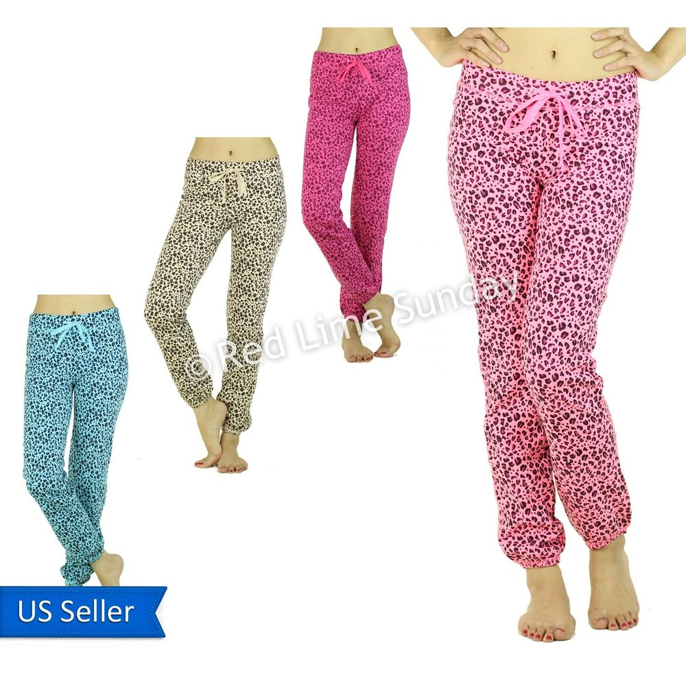 New Cute Animal Print Leopard Color Cotton Drawstring Jogging Yoga Pants Jogger