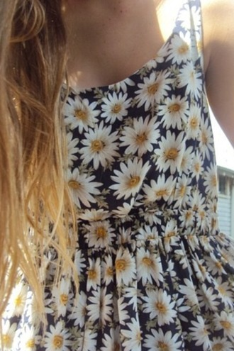 dress hipster sunflower daisy