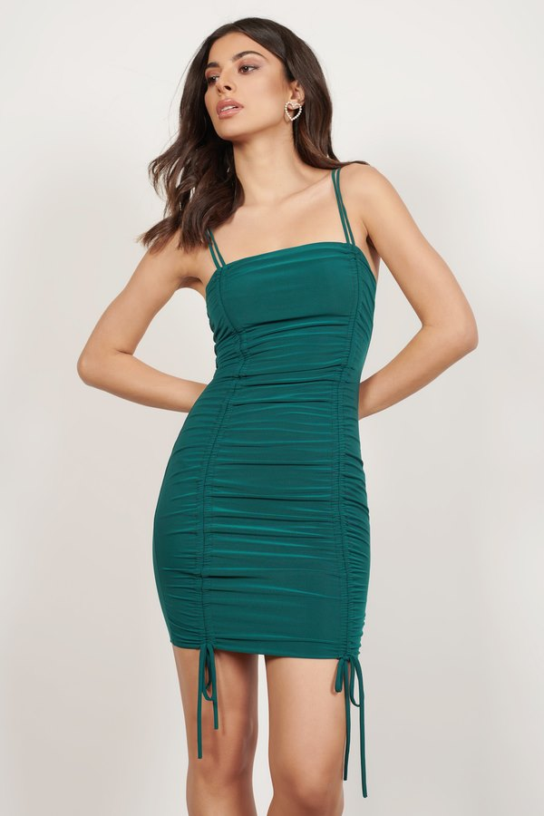 Fitch Emerald Ruched Bodycon Dress
