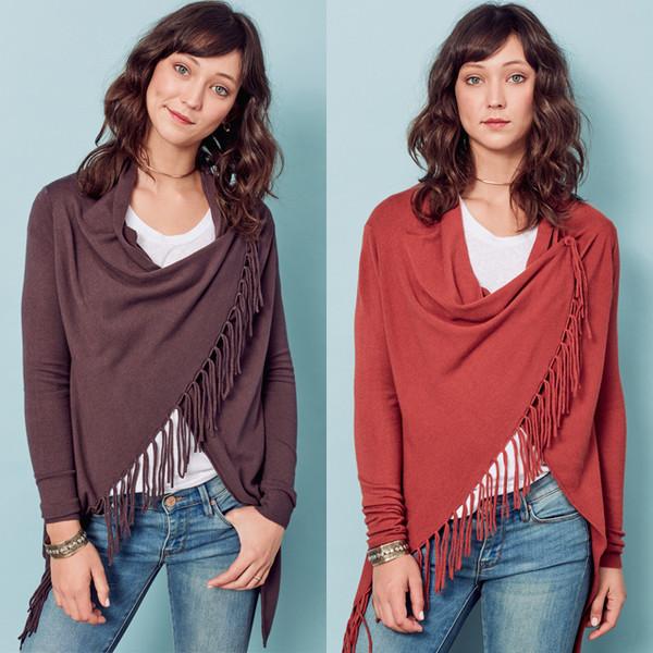 cardigan summer cardigan fall colors carys fringe sweater lovestitch boho chic bohemian sweater