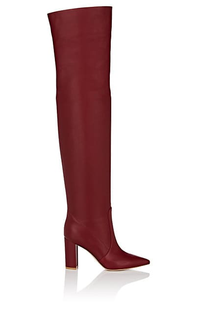 Gianvito Rossi Morgan Leather Over-The-Knee Boots   Barneys New York