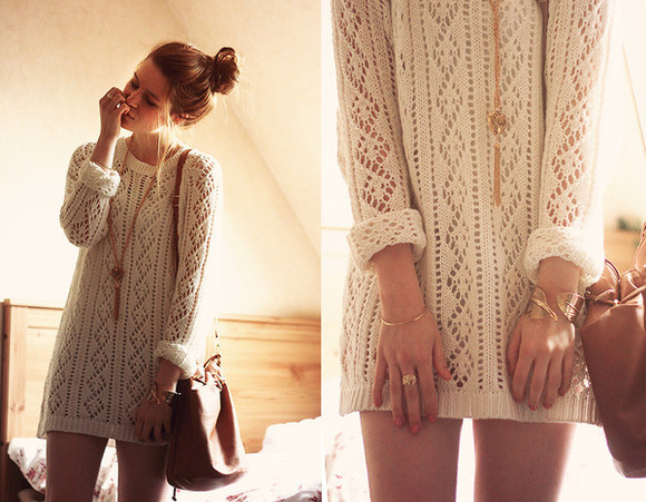 cream aztec sweater top knitwear long sleeve dress white sweater sweater dress white winter outfits cute nail polish girl winter sweater winter dress