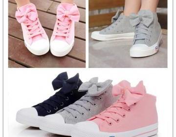 Princess bow canvas shoes fashion s..