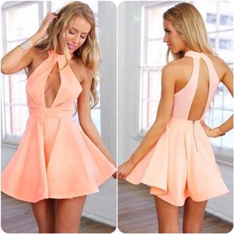dress pink dress coral coral dress summer dress