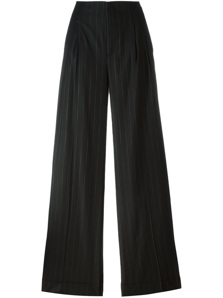 ETRO women spandex black wool pants