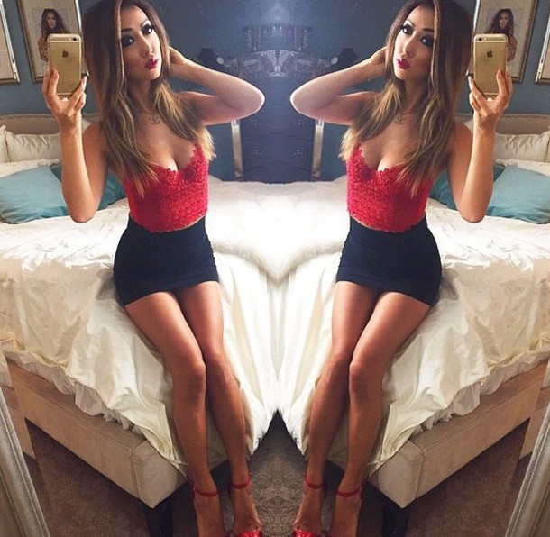 top black tank top red top red top red tank red tank tops red tank top black skirt black bodycon 2 piece black bodycon skirt bodycon bodycon skirt lace top lace cami style fashion skirt