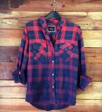 blouse flannel shirt plaid ombre