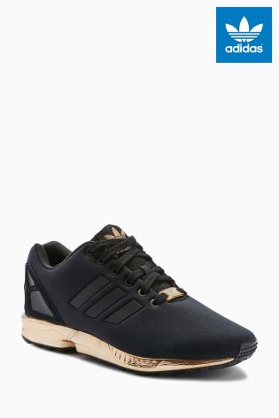 adidas originals zx flux black and gold