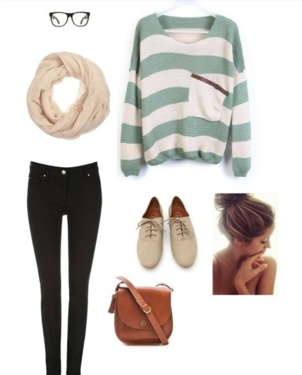 pinterest cute striped sweater green and white front pocket sweater green and white stripes pullover cute sweater