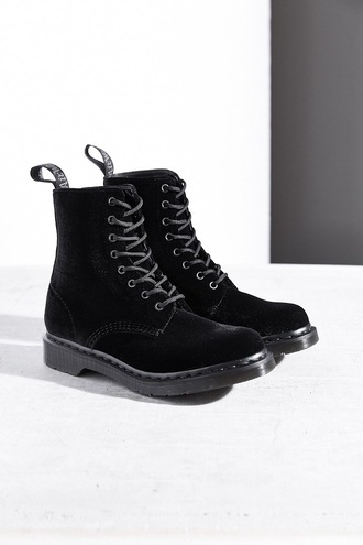 shoes velvet drmartens