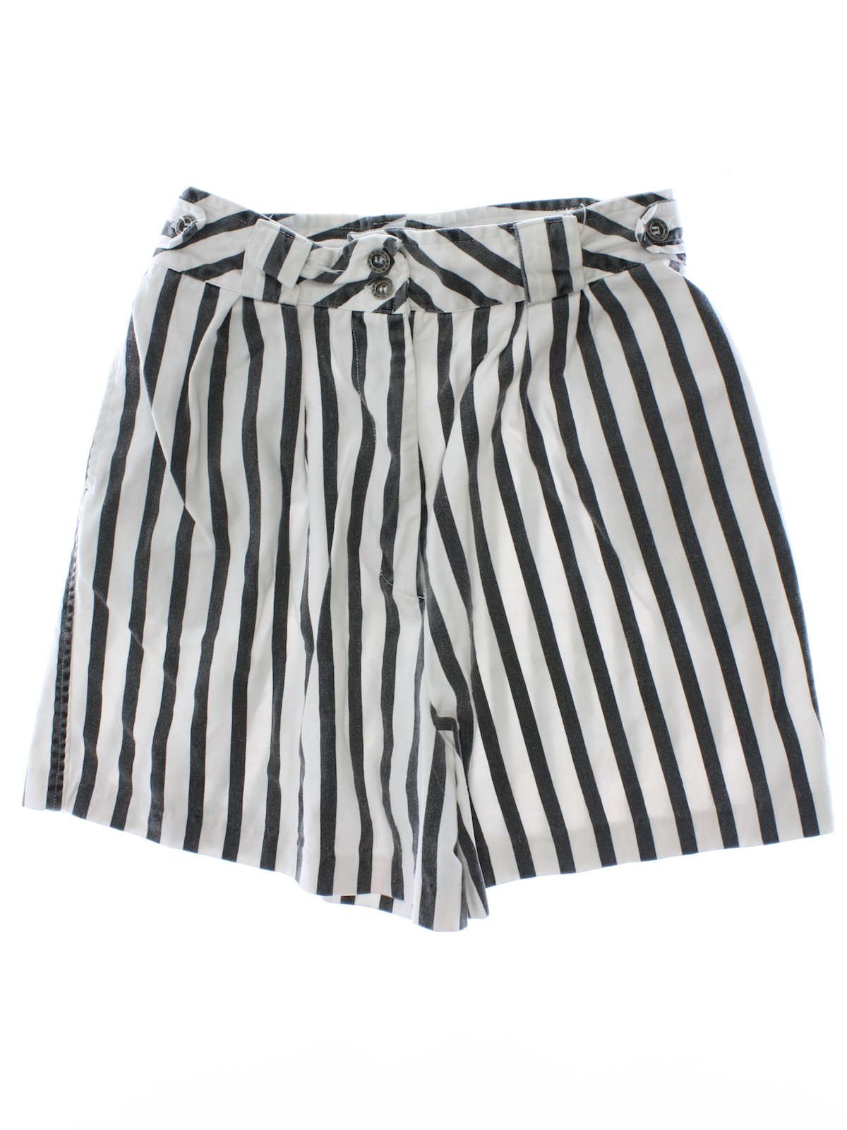 Black And White Striped Shorts Womens - Hardon Clothes