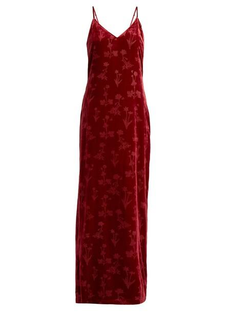 Elizabeth and James dress slip dress velvet red