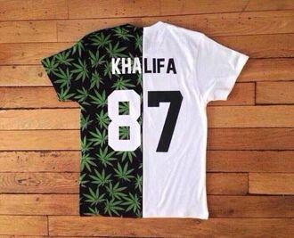 shirt white shirt weed