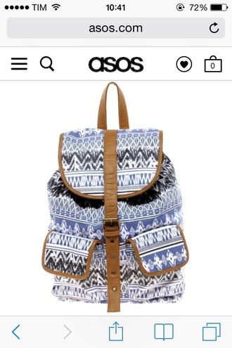 bag backpack river island vintage light blue