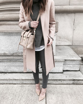 crystalin marie,blogger,shoes,bag,jeans,coat,jewels,blouse,top,scarf,sweater,jacket,sunglasses,make-up