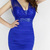 Low-Cut Sequin Embellished Wrinkled Backless Beam Waist Packet Buttock Polyester Solid Color Dress For Women