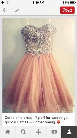 party pink dress homecoming dresses cute dress cute