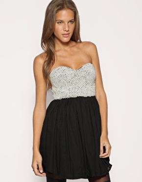 One teaspoon pearl embellished bandeau dress at asos