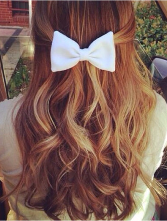 jewels hair bow bows cute hair accessory white hair bow bow accessorie follow me for more follow me ill follow back more cute pics follow im new follow me newbieee