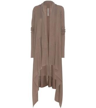 cardigan open wool brown sweater