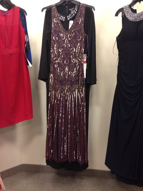 dress plum beaded gown long satin boston store