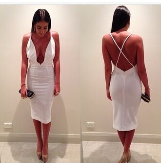 dress white dress outfit clutch accessories bag jewels bracelets high heels heels shoes nude high heels nude pumps rings and tings