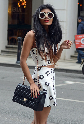 tank top chanel prada crop tops tumblr wildfox sunglasses