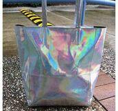 bag,tote bag,holographic