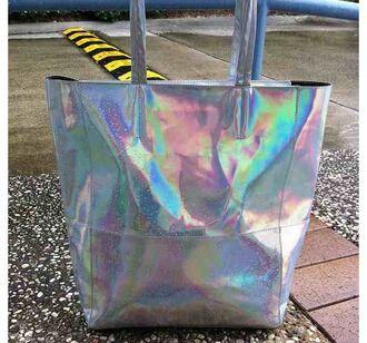 bag tote bag holographic