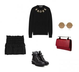 helena bordon blogger black sweater mini skirt
