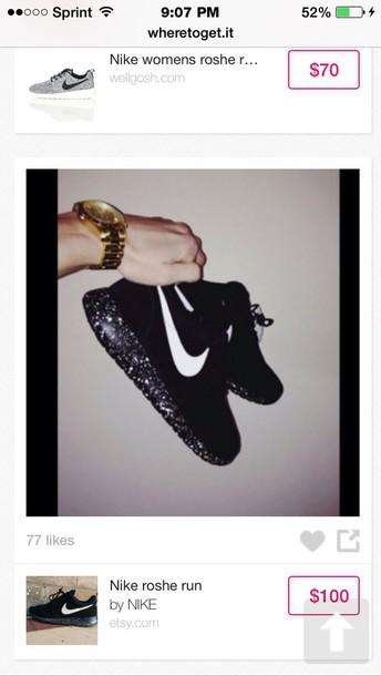 shoes black niki  roshies with galaxy print