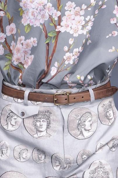 blouse flowers shirt t-shirt floral tank top fashion outfit pants