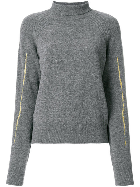 Haider Ackermann sweater women spandex wool grey