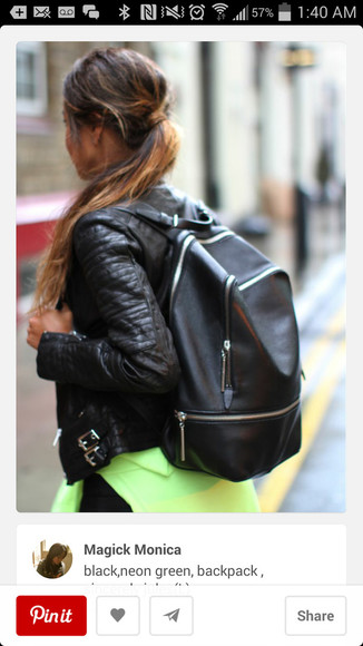 bag backpack black leather black leather bag zipper