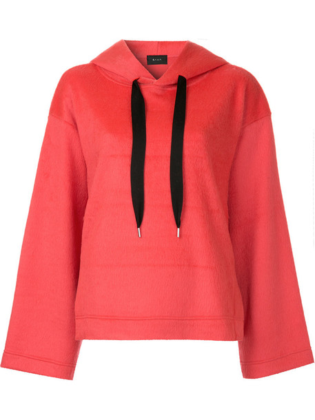 G.V.G.V. hoodie oversized women wool red sweater
