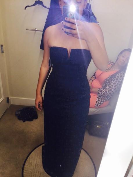 dress mattox navy dress