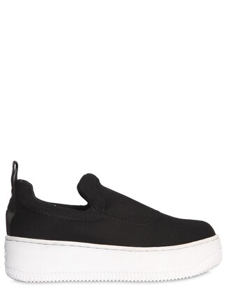 sneakers neoprene white black shoes