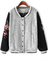 Grey contrast long sleeve embroidered jacket