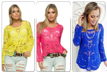 Aliexpress.com : buy wholesale 2015 new lace blouse shirt blusas hollow sexy women tops lace blusas femininas high quality blouses from reliable blouses & shirts suppliers on pelum factory outlet