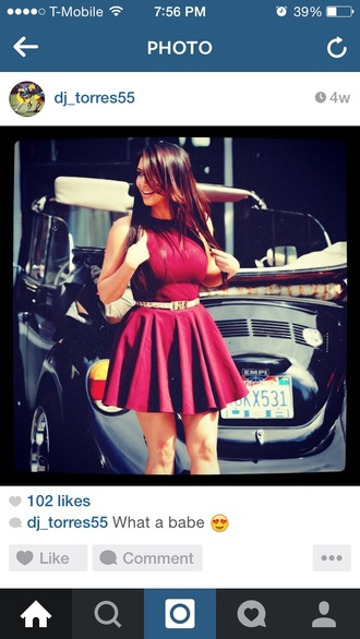 dress kim kardashian dress belt burgundy dress