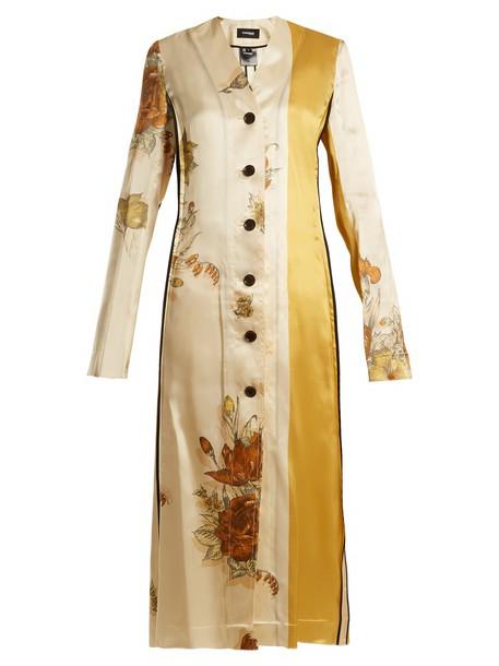 dress print dress floral print beige