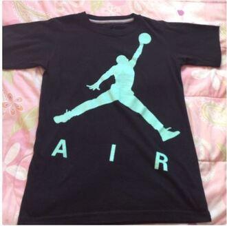shirt jordans air jordan pink cute black t-shirt nike stylish mint