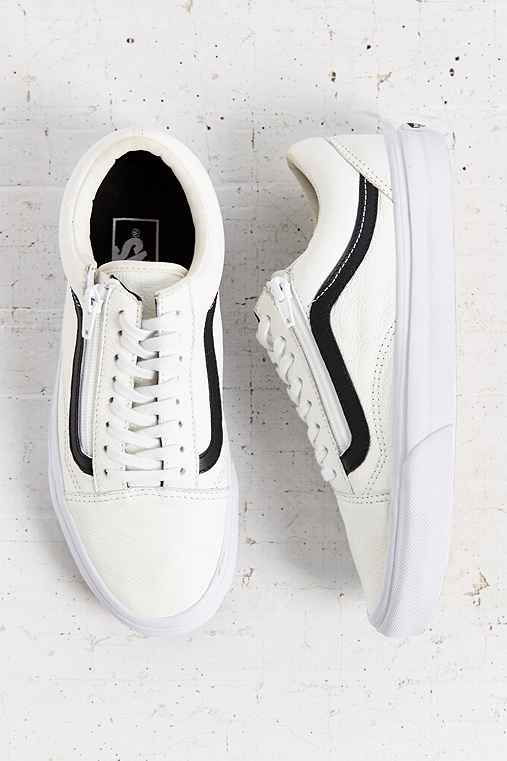 e12e729c Vans Leather Old School Zip Sneaker - Urban Outfitters